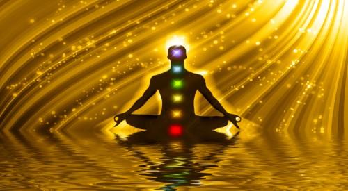 meditating-silhouette