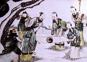 Taoism--sages_admiring_yin_yang_symbol